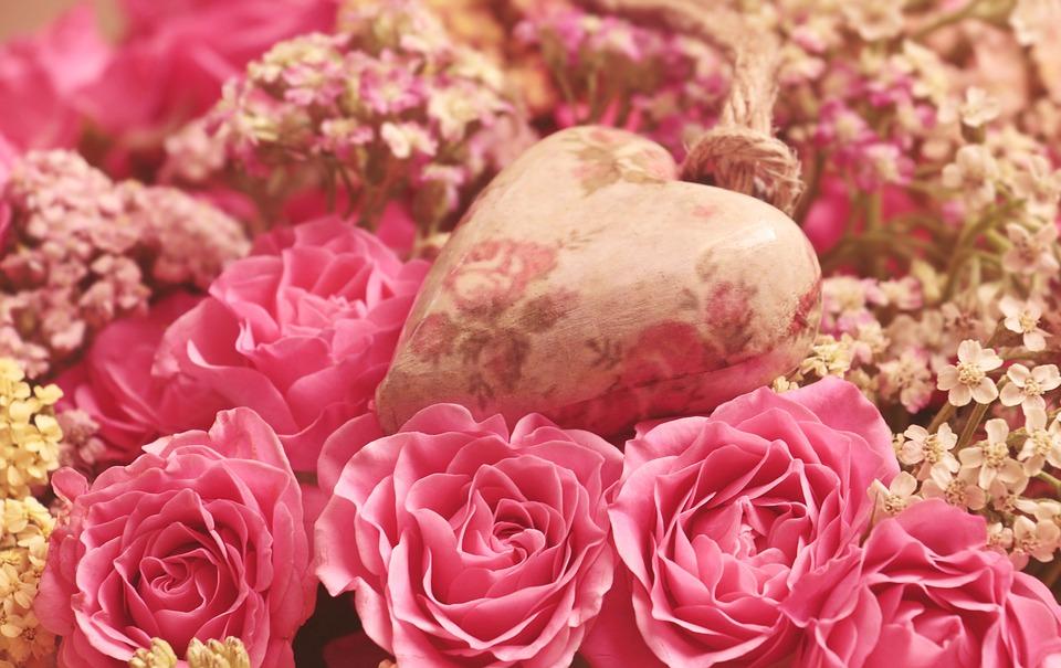 Rosas con un corazon